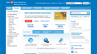 BMO MasterCard Features Page