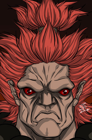 Akuma from Street Fighter - Clip Studio Paint & Adobe Photoshop