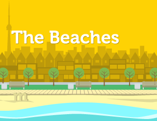 Office Sign Representing Toronto Beaches - Adobe Illustrator