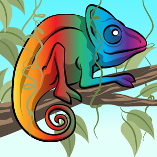 Chameleon - Adobe Illustrator