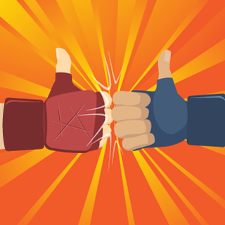 Fist Bump - Adobe Illustrator