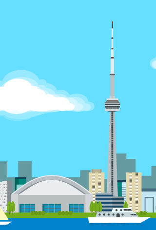Toronto Skyline - Adobe Illustrator