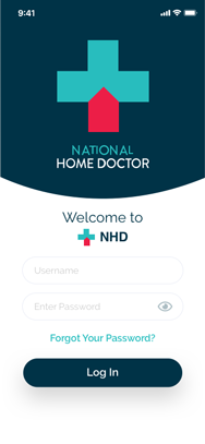 NHD - Doctors App - Log In Screen
