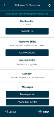 NHD - Doctors App - Dashboard