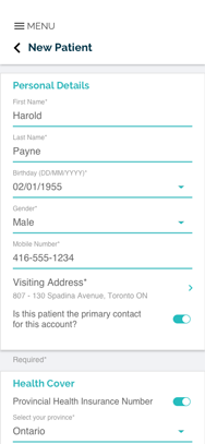 NHD - Patients App - New Patient