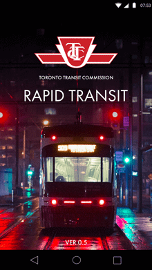 TTC Rapid Transit - Splash Screen